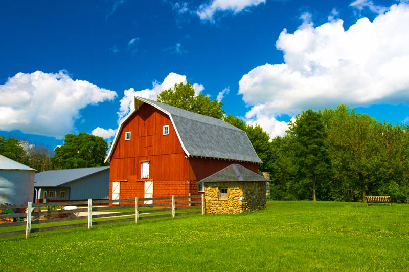 Barn;Barns;Indiana;Red;Howard County;Midwest;Rural;Farm;MIdwest;Farm;fence