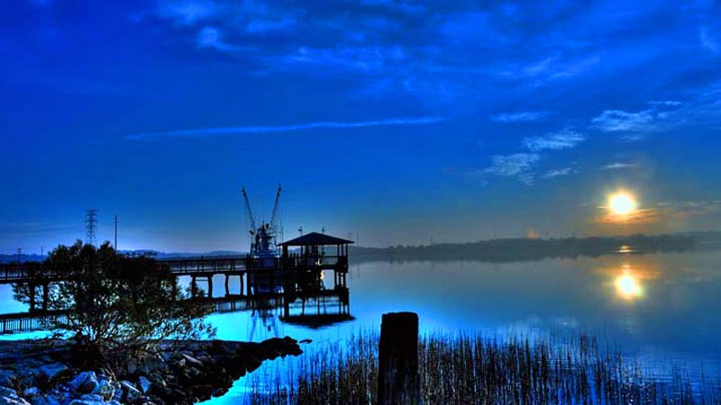 Sunrise;Shrimp Boats;Sea;South Carolina;blue;ocean;Sea;Costal;Dock