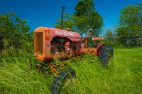Tractor;Farm-Equipment;Allis-Chalmers;Howard-County;Indiana;red;green;Farm