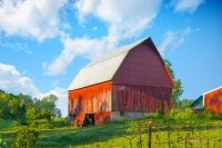 Barn;barns;farm;farms;red;Indidna;green;Midwest;rural;Fulton-Countyweathered-wood;Horse