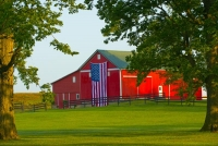 Barn;barns;farm;farms;red;Indidna;green;Midwest;rural;Miami-CountyFlag
