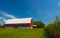 Barn;Red;Farm;Hancock-County;Indiana;Rural;Midwest