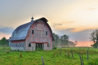 Barn;barns;farm;farms;red;Indidna;green;Midwest;rural;Howard-Countyweathered-wood