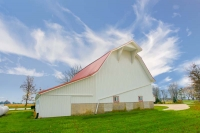 Barn;barns;farm;red;green;Indiana;Midwest;Tipton-County;rural;white;corn;gold;rural