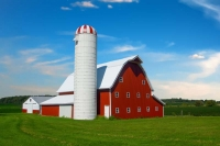 Indiana;Midwest;farm;farming;Barn;silo;red;white;green;beauty;peaceful;rural