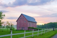 Barn;farm;Miami-County;rural;Midwest;Indiana;gray;green;white;pink