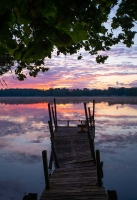 Lake;Sunrise;Nayona-Lake;Nature;Fulton-County;gold;orange;dock;pink;Indiana;Midwest;Peaceful;reflect