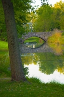Bridge;stone-bridge;arch-bridge;Indiana;Delphi;Green;reflection;Midwest;Vertical