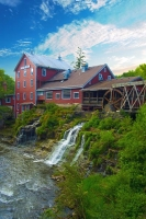 Mill;Clifton-Mill;Ohio;red;waterfall;grist-mill;stream;River;vertical