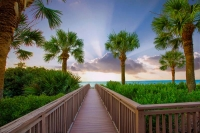 Sunrise;Hilton-Head-Island;South-Carolina;Costal;east;ocean;blue;orange;boardwalk;beach