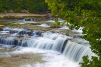 Waterfall;Creek;Stream;River;Moving-water;Indiana;Midwest;Green;Water;waterfalls;Owen-County