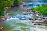 Waterfall;Cass-County;Indiana;Midwest-moving-water;Pipe-Creek;stream;nature