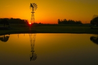 Sunrise;Windmill;Howard-County;Midwest;SR;Indiana;Farm;Gold;reflection