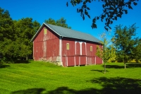 Barn;Barns;Farm;Farms;Red;Green;Indiana;Grant-County;Rural;MidwestFamily-Farm