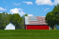 Barn;barns;farm;farms;red;Indidna;green;Midwest;rural;Miami-CountyAmerican-Flag