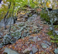 nature;fall;autumn;tree;rock;vertical;horizontal;square;petit-jean;state-park;arkansas