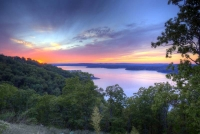 sunset;lake;table-rock-lake;branson;mo;missouri;kimberling-city;lampe;foliage;color;blue;red;orange;