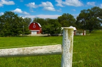 Barn;barns;farm;farming;Midwest;Ohio;red;green;white;fence;quilt-square;rural